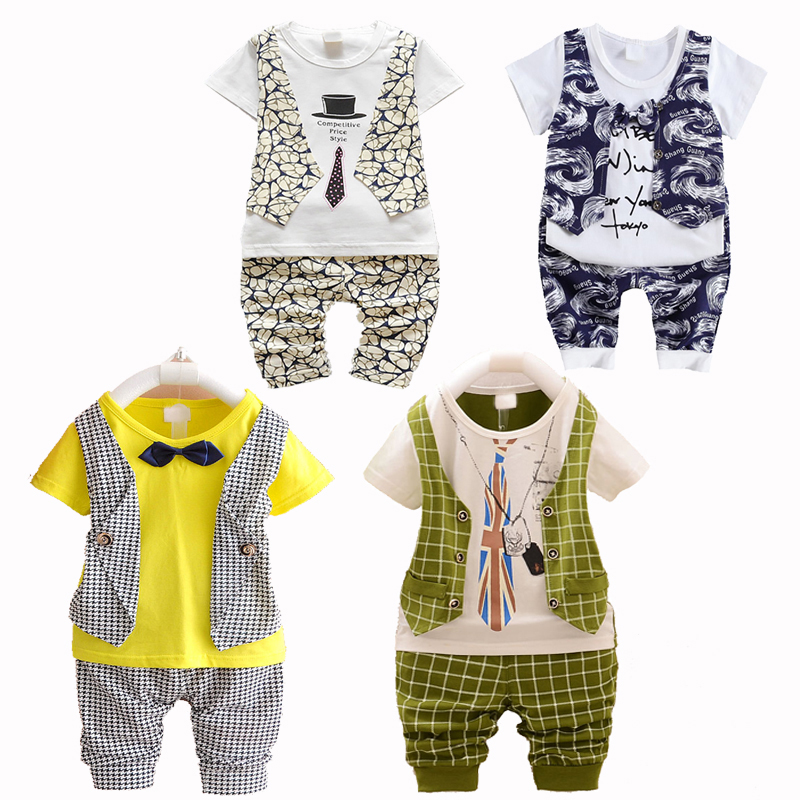 Clean Sales Summer Kids Boys Clothes Set Baby Boy Clothing Set Toddler Boys Clothing Infant Vest Shorts Pants Gentleman Suit