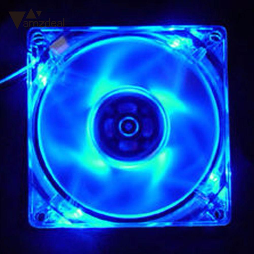 amzdeal Hot-sale 4 Pin 120mm 12V Computer Case Quad LED Light 9-Blade CPU Cooling fan cooler Heat Radiation Fan Mod synthetic graphite cooling film paste 300mm 300mm 0 025mm high thermal conductivity heat sink flat cpu phone led memory router