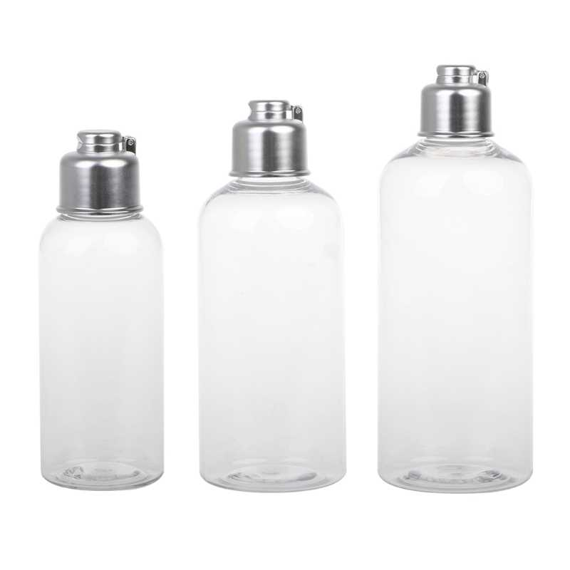 1Pc 100/200/300ml Cosmetica Lege Hervulbare Flessen Crème Shampoo Lotion Clear Hervulbare Flessen Containers