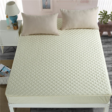 1pc 100% Cotton Fitted Sheet Mattress Cover Bed Sheets With Elastic Band drap de lit sabanas 120*200/150*200/180*200*30cm