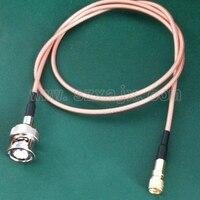 Macho 10-32unf m5 dos conectores compatíveis de microdot do conector de jx aos cabos masculinos 0.5 m-10 medidores do teste do sensor da aceleração da vibração de bnc