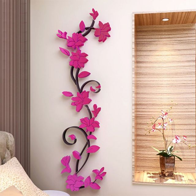 Aliexpress.com : Buy 3D Crystal Wall Stickers Romantic Rose Flower ...
