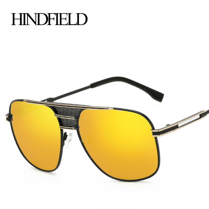HINDFIELD Fashion Luxury Big Women Sunglasses Summer Style Mirror Glasses Female Brand Designer Oculos Sun glasses