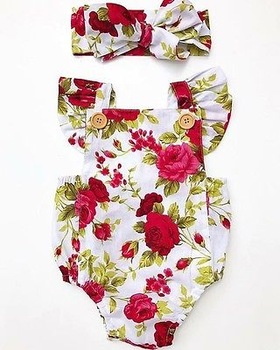 Baby Girls Summer Floral Set 1
