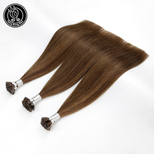 """Fairy Remy Hair 0.8g/s 14"""" 16"""" 18"""" 22"""" Keratin Flat Tip Remy Human Hair Extensions On Capsules Double Drawn Fusion Hair 40g"""
