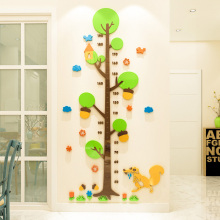new design tree kids growth height chart wall stickers 3d acrylic measuring