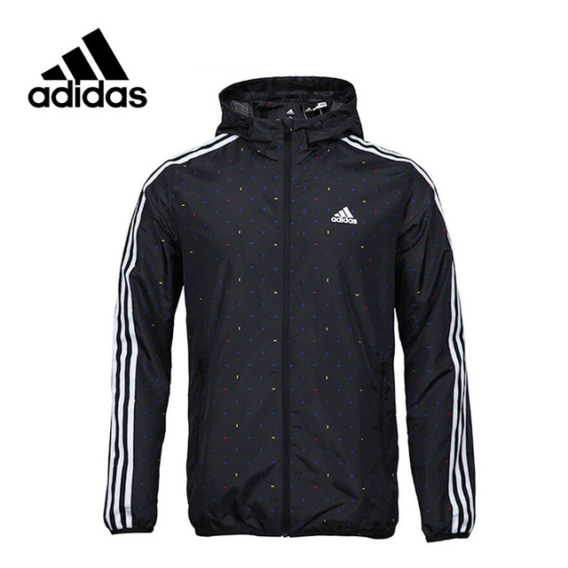 359ef44a6008 Adidas New Arrival Official Men s Windproof Jacket Hooded Leisure Sportswear  AY3783