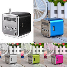 DMicro SD TF USB Mini Stereo Bass Speaker Music Player FM Radio PC MP3/4 Support USB/TF Pluggable Card R0404(China)