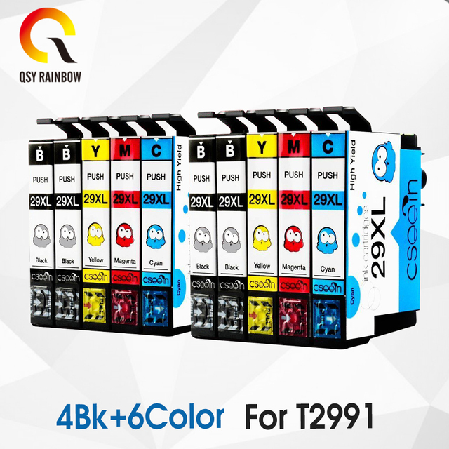 Thay thế 10 CHIẾC 29 29XL T2991XL T2991 Cho Máy Epson Hộp mực XP235 XP247 XP245 XP332 XP335 XP342 XP345 XP435 XP432 XP442