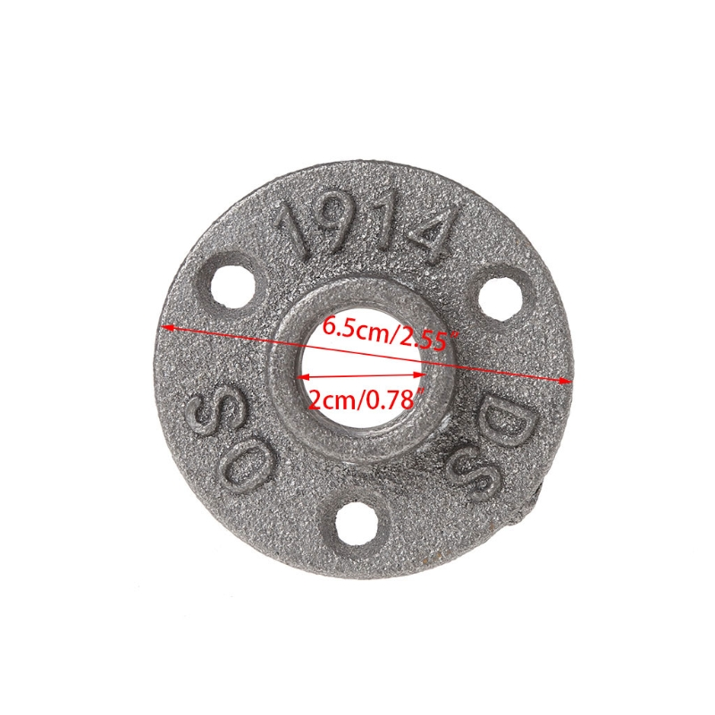 Bolts Ootdty 1/2 Malleable Thread Floor Flange Iron Pipe Fittings Wall Mount Industrial Fasteners & Hooks