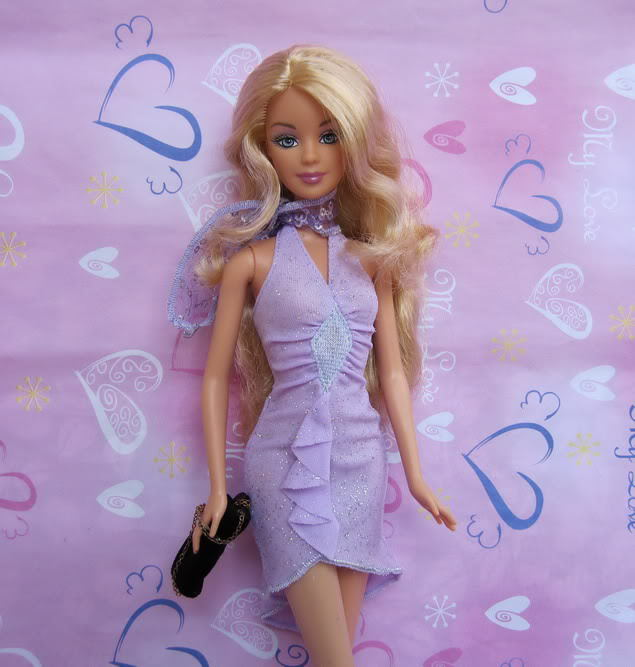 Pageant Items For Women Present Doll Equipment Pink carpet Purple Gown Night Gown Garments For Barbie 1:6 Doll BBI0040