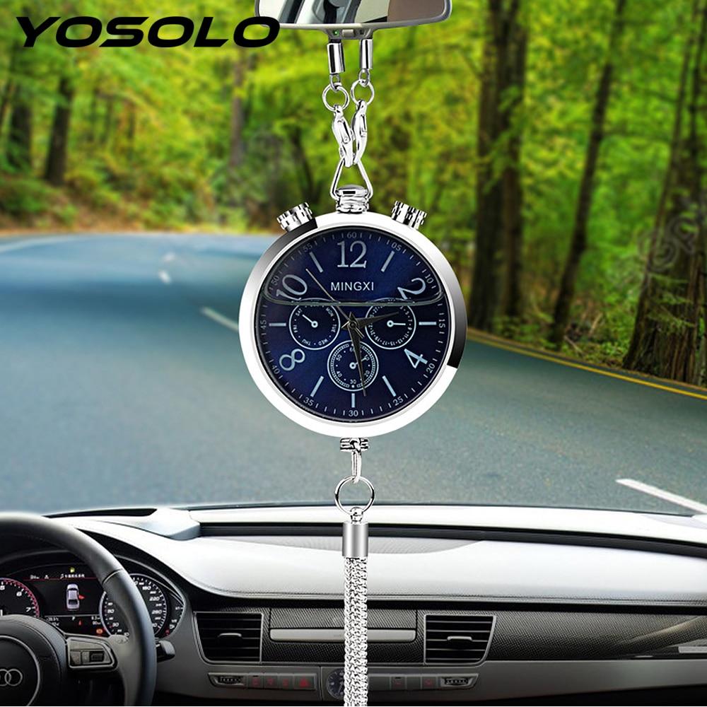 goede koop yosolo auto styling auto klok interieur accessoires parfum refill opslag opknoping hanger ornament auto achteruitkijkspiegel decoratie goedkoop