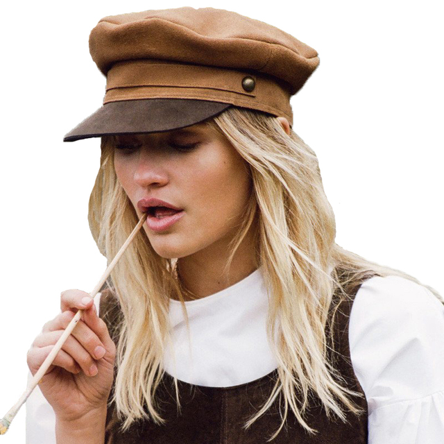2018 Americain Retro Chapeau Militaire Femme Hiver Chapeaux Pour