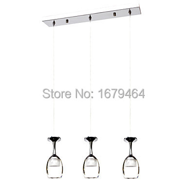 Free Shipping 3Wx3 LED Light Cup Chandelier Light Wineglass Pendant Lamp for Living Room Bar Saloon Dining Room 110-240v 3wx3 led light crystal chandelier pendant lamp for living room bar saloon dining room pendant lights free shipping