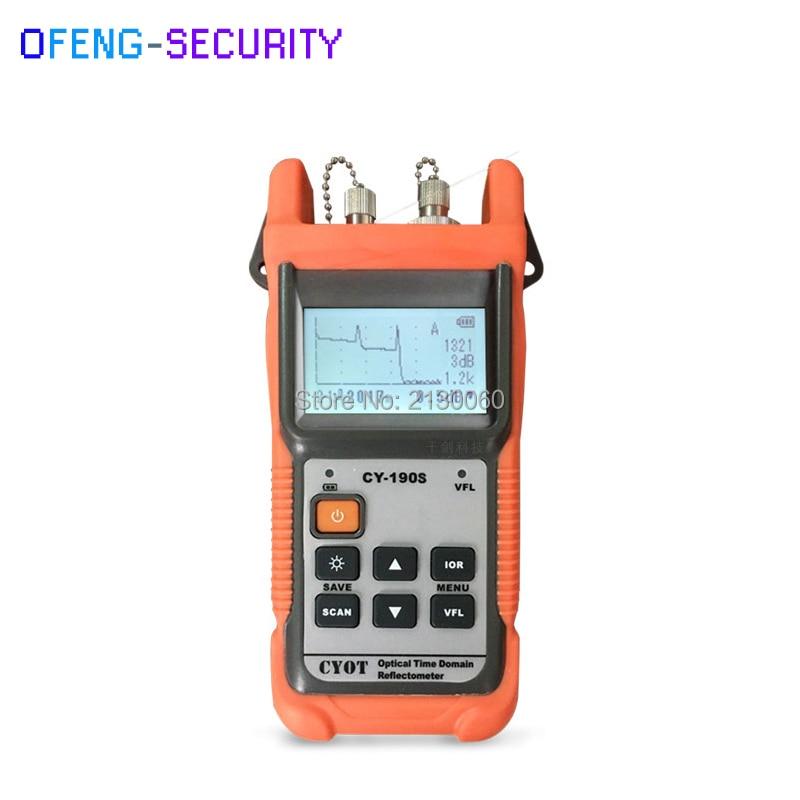 Handheld OTDR Optical Time Domain Reflectometer CY-190S, SM 60 km 1310nm + 1 mw VFL Fiber encontrar a falha tester 8dB/26dB