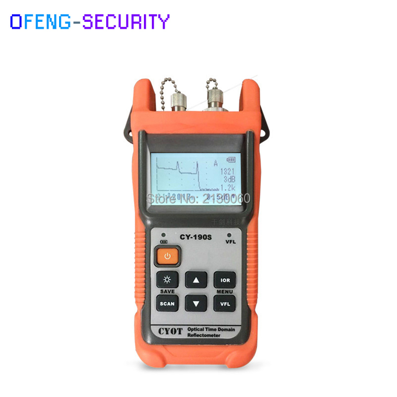 Handheld OTDR Optical Time Domain Reflectometer CY-190S, SM 60 km 1310nm + 1 mw VFL Fiber encontrar a falha tester 8dB/26dB