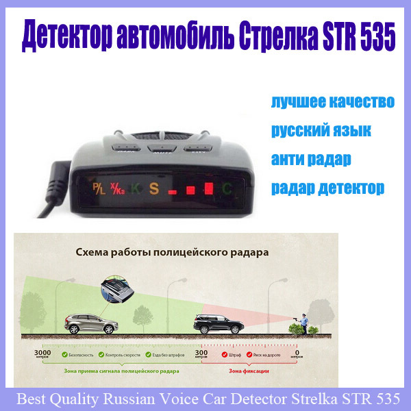 Car-detector 2017 best anti radar car detector strelka alarm system brand car radar laser radar detector str 535 for Russian