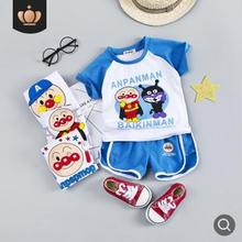 Childrens Clothing 2019 Summer Baby Boy Set Cartoon Printed Cotton Short-sleeved Girls Suit Clothes SY-F192218