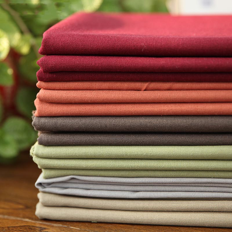 140CM*50CM DIY Solid Color Embroidery Cotton Linen Fabric Cloth For Cross Stitch Embroidery Patchwork Needlework Handmade Craft