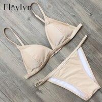 Floylyn Bikini 2017 New Arrival Bikini Set Women Swimwear Solid Color Simmsuit Beach Bathing Suit Brazilian
