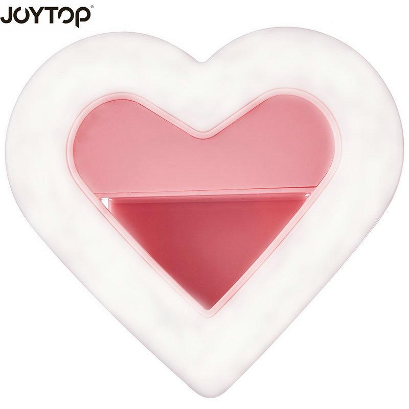 Joytop 2018 شكل قلب selfie ضوء المحمولة فلاش led - كاميرا وصور