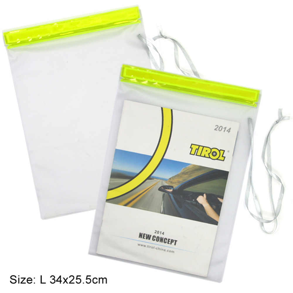 TIROL T21861b Novo 3 Pcs bolsas set PVC à prova de água à prova de Salpicos Transparente PVC saco conjunto