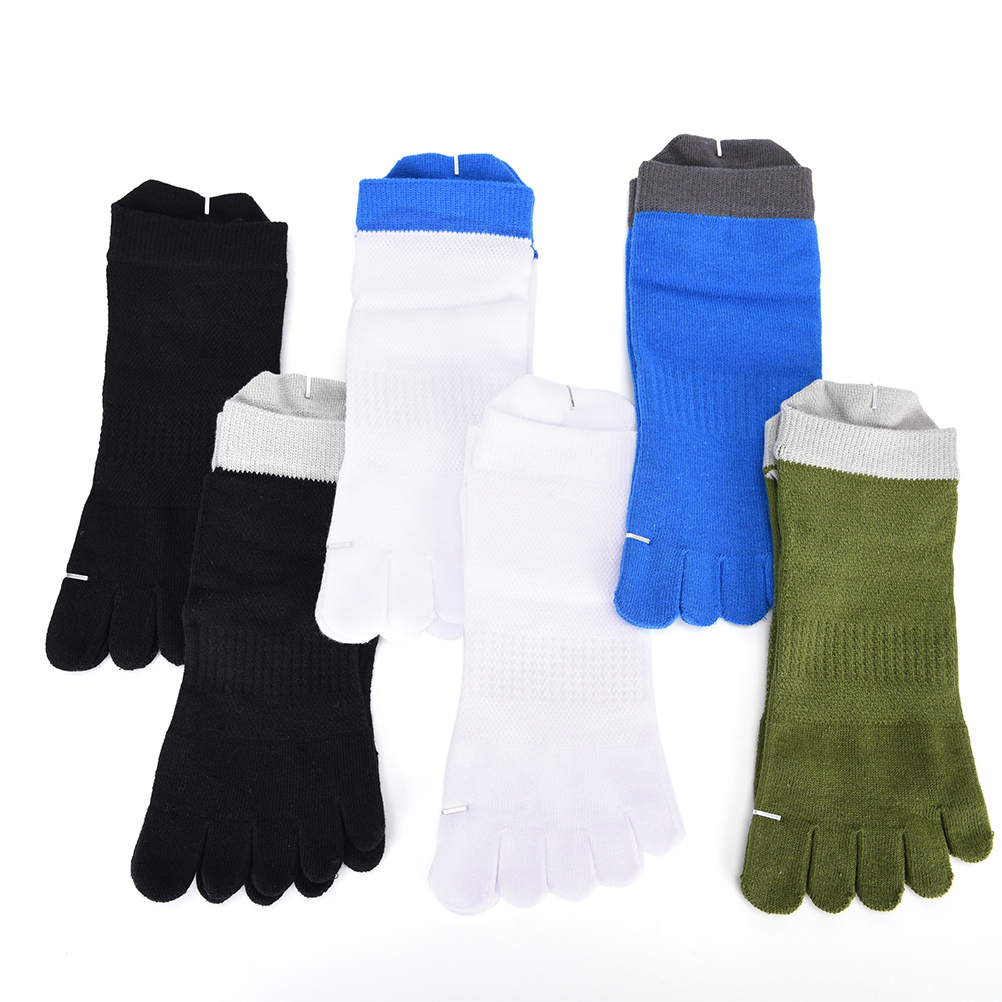 1 Pair/Lot New Mens Socks Cotton Meias Five Finger Socks Toe Socks For EU 40-46 Calcetines Ankle Sok OM