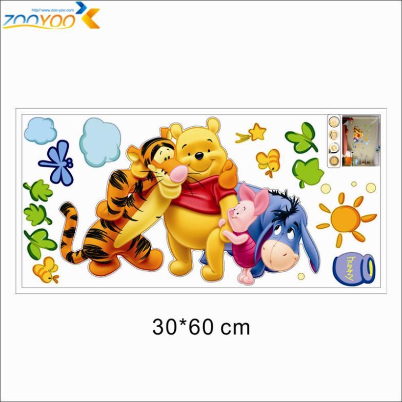 winnie the pooh φίλους τοίχο decals για παιδιά - Διακόσμηση σπιτιού - Φωτογραφία 6