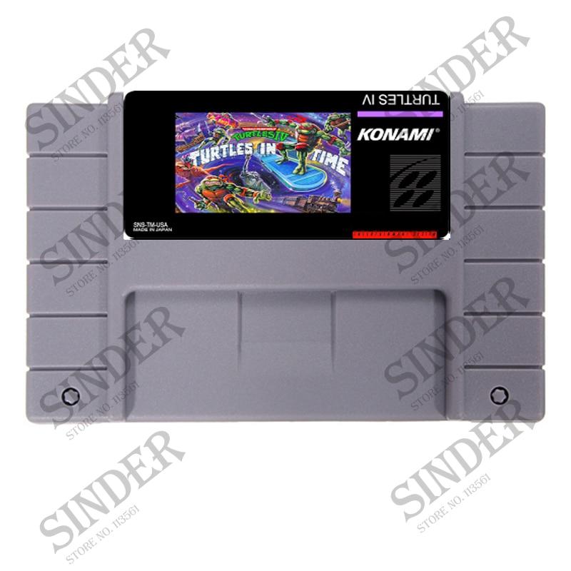 Tartarugas Tartarugas IV Em Tempo 16 bit Super Game Card Para PAL/NTSC Jogador Do Jogo