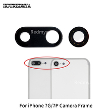 High Quality Back Rear Camera Glass Lens For iPhone 7 7G Plus Sapphire Crystal Protector + Frame Black