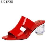 Summer slippers Transparent High Heels flip flop Shoes Women Sandals Peep Toe Sexy Party Female Ladies Shoes Woman Sandalias c81