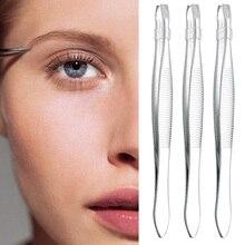 5 шт./лот пинцет для бровей из нержавеющей стали для удаления волос на лице, инструмент для макияжа, женская косметика, инструмент для красоты