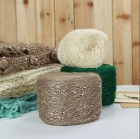 Free Ship 200g Pack 50color Can Chosse Mohair Wool Sequins Yarn Beautiful Beads Yarn Hand Knitting