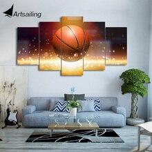 HD с 5 шт. холсте Натюрморт Art Баскетбол картины настенные панно для гостиной современный Бесплатная доставка/CU-1996B
