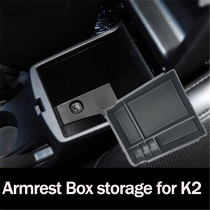 Accesorios de coche para compartimento de apoyabrazos central bandeja de almacenamiento para KIA K2 Rio K3 K4 Cachet K5 KX3 Sporage QL KX5 KX7 Forte Sorento BORREGO