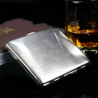 High End Stainless Steel Super Thin Metal Box Cigarette Cases