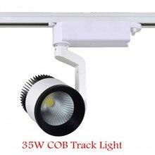 10 шт. высокой мощности COB 35 Вт AC85-265V холодной / теплый белый CE RoHS из светодиодов трек пятно света из светодиодов COB трек освещение лампа