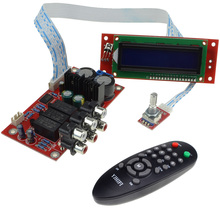 PGA2311 Audio Volume Stereo Pre-amplifier Preamp Board with Remote Control & LCD Display Free Shipping Drop Shipping 10000825