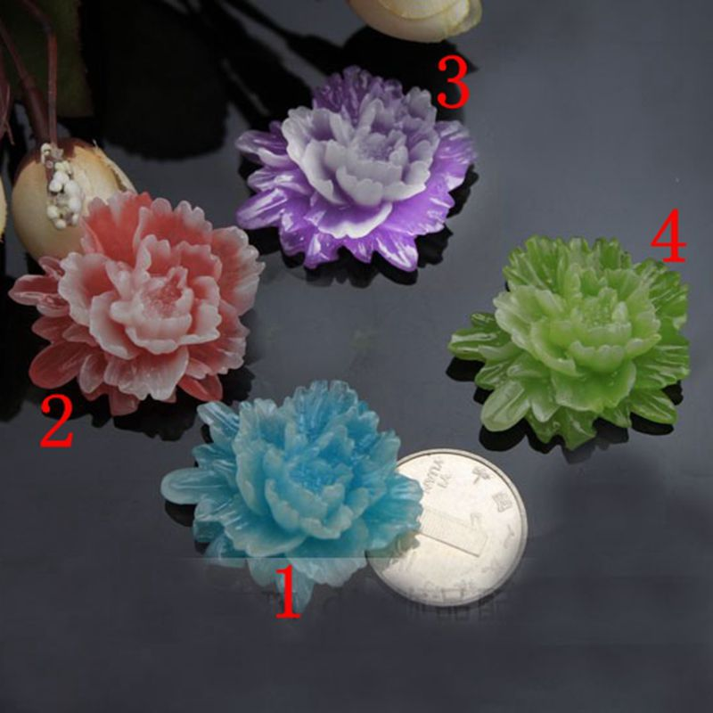8pcs/lot AAA quality peony resin wholesale/retail 40mm 4color optional resin flower for jewelry decoration! 009005028