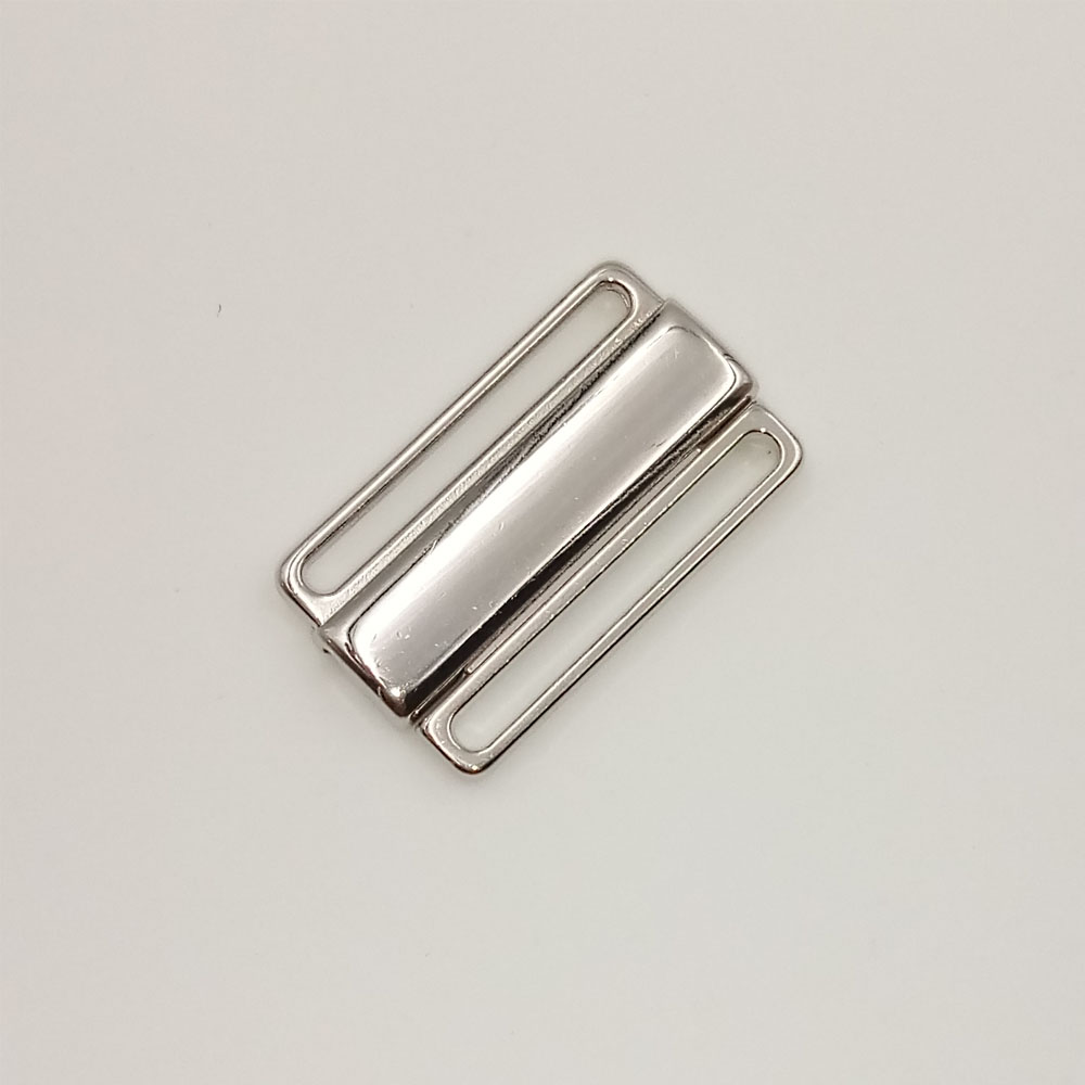 Fast shipping 400 <font><b>sets</b></font> / lot 25mm metal <font><b>front</b></font> closure <font><b>bra</b></font> clips swimwear clipper bikini connectors image