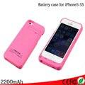 Высокое качество 2200 мАч аккумуляторная резервное копирование внешнее зарядное устройство зарядное устройство чехол крышка 8 цветов для iPhone 5 5 г 5S