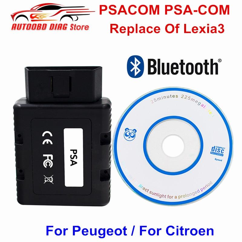Newest PSACOM PSA COM Bluetooth OBD2 Diagnostic Tool PSA COM Car Code Scanner Replacement Of Lexia