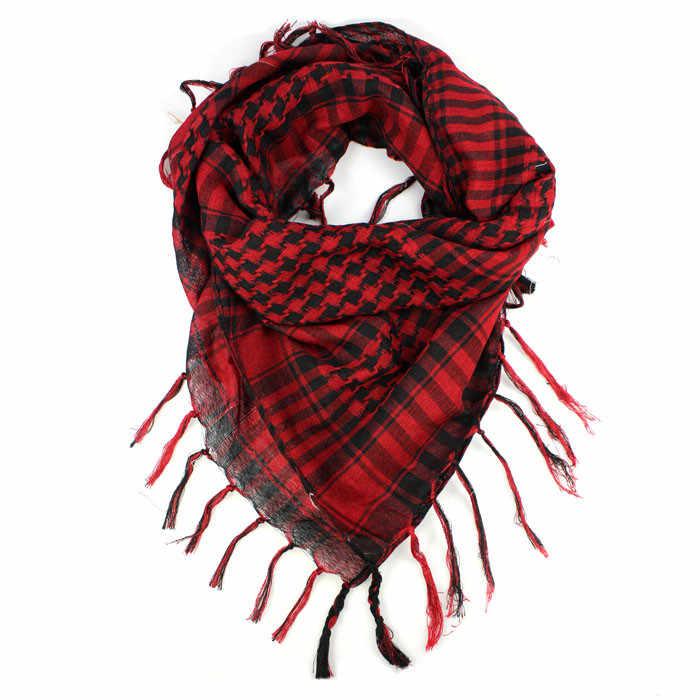 & 40 Syal Bungkus Unisex Kopi Hitam Fashion Wanita Pria Arab Shemagh Keffiyeh Palestina Syal Selendang Sjaals Szaliki Aku chusty