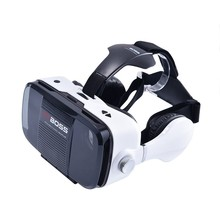 2016 Google Smart Bluetooth Wireless VR BOSS Virtual Reality 3D Glasses Cardboard VR BOX Headphone Speaker Button for iphone