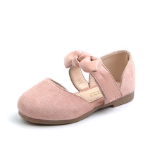 Childrens Casual shoes Girls Bow Princess Shoes Kids For Baby Girl Soft bottom Sandal Pink Black Khaki 3-16T