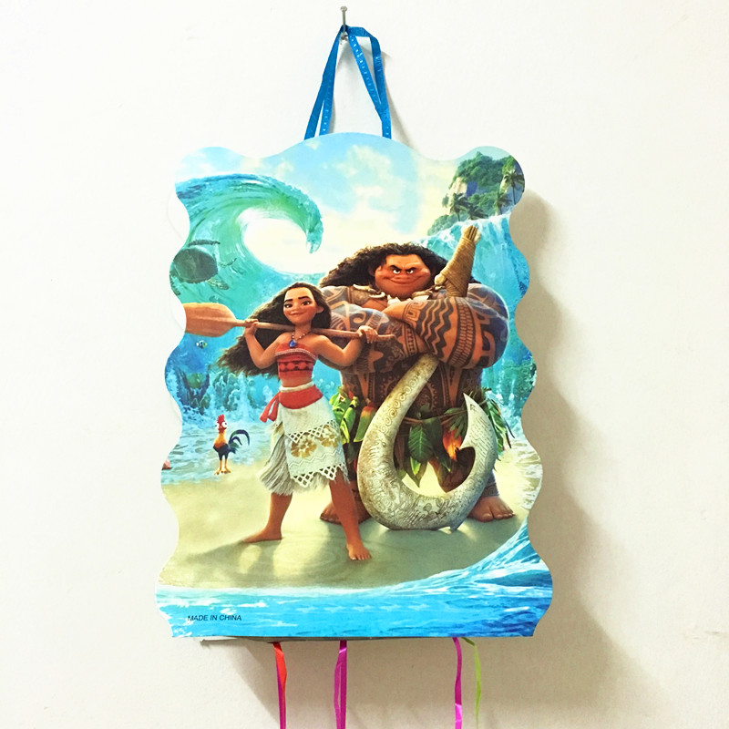 1Pcs moana theme Pinata Happy Birthday Party Play Game for Boys Party decoration childre ...
