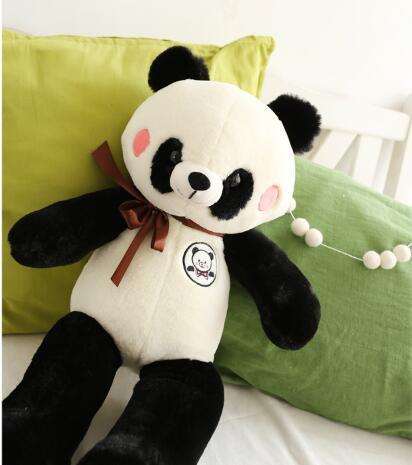110 cm Belle Panda jouet Mignon En Peluche Kid Animaux Doux En Peluche Panda grande taille oreiller cadeau d'anniversaire de haute qualité