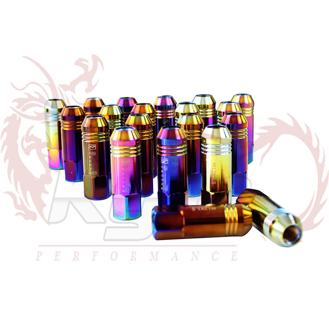 KYLIN STORE -  Light Weight Wheel Racing Auto Lug Nuts 60mm M12*1.5 Fit For HONDA CIVIC Neo Chrome