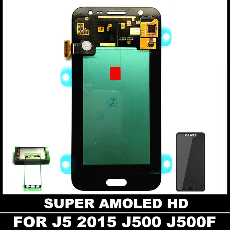 100 High Quality LCDs for Samsung AMOLED J5 2015 J500 J500F J500G J500H LCD Display Digitizer