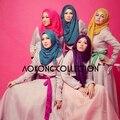 Una pieza hijab bufanda llana sólida voile de viscosa bufandas hijabs musulmanes Islam maxi boda wraps chales al por mayor de las mujeres cabeza de primavera